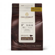 Шоколад Callebaut в таблетках, горький 70,5%, 2,5 кг