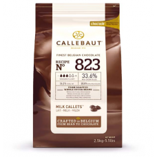 Шоколад Callebaut в таблетках, молочный 33,6%, 2,5 кг