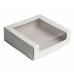 Коробка с окном 22,5х22,5х6 см, белая