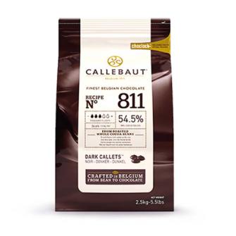 Шоколад Callebaut в таблетках, темный 54,5%, 2,5 кг