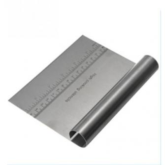 Шпатель металлический с разметкой, 15х11,5 см