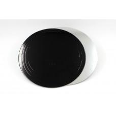 Подложка усиленная (3,2 мм) черная/серебро D 240 мм