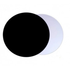 Подложка усиленная (1,5 мм) черная/серебро D 300 мм