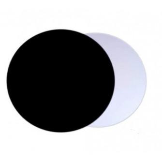 Подложка усиленная (1,5 мм) черная/серебро D 240 мм