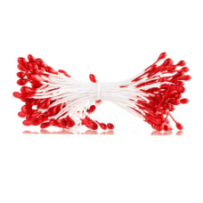 Тычинки для цветов красные, 94 шт
