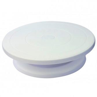 Подставка для торта вращающаяся, белая