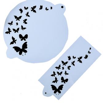 """Набор трафаретов """"Бабочки"""", 2 шт, d 23 см"""