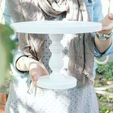 Подставка для торта белая