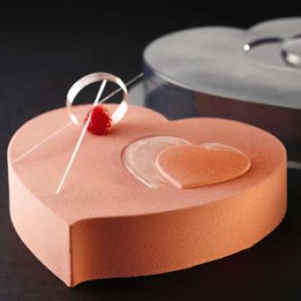 "Форма пластиковая для торта ""Сердце"", 200 мм"
