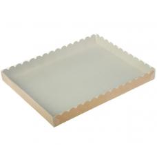 Коробка с прозрачной крышкой 22х15х3 см