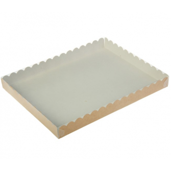 Коробка с прозрачной крышкой 23,5х30х3 см