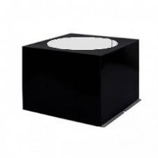 Коробка черная для торта с окном 24*24*18 см