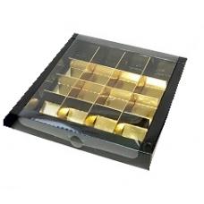 Коробка на 16 конфет, черная