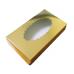 Коробка для эклеров с окном, золотая