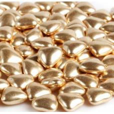 Посыпка Сердечки золотые 23 мм, 50 гр