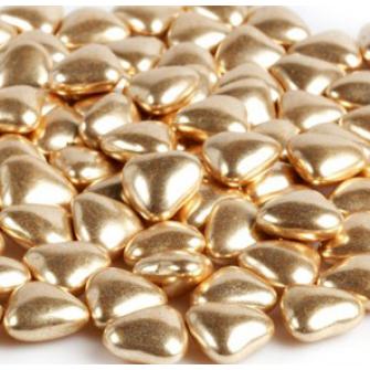 Посыпка Сердечки золотые 15 мм, 50 гр