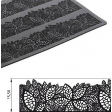 Коврик силиконовый рельефный Кружево, 40х20 см
