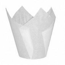 Форма бумажная Тюльпан 50*80 мм (белая), 200 шт