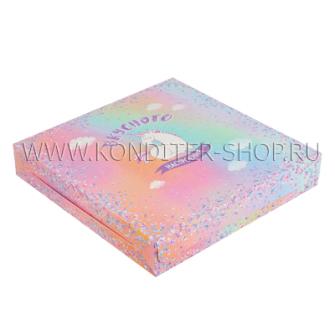 """Коробка """"Юникорн"""", 25х25х4.5 см"""