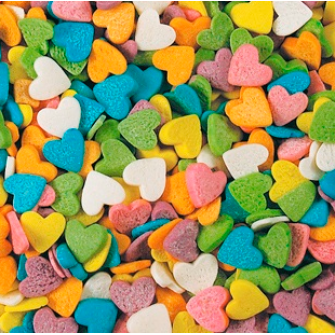 Посыпка Сердечки разноцветные 75 гр